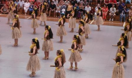 Johnny Lum Ho Hula dancers Merrie Monarch 2009