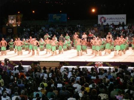 UHH Samoan club dancers at Merrie Monarch