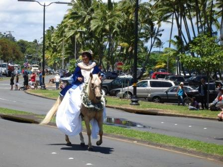 Merrie Monarch Parade island queen Hilo 2008