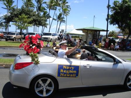 Merrie Monarch Parade Navy region commander Hilo 2008