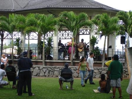 Singing at Festival in Hilo