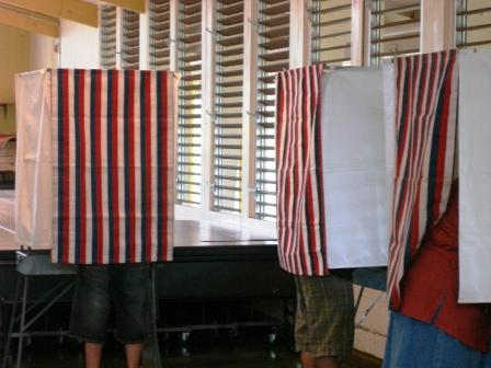 Hilo Voting booths