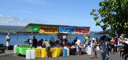 Food stands in Hilo Hawaii