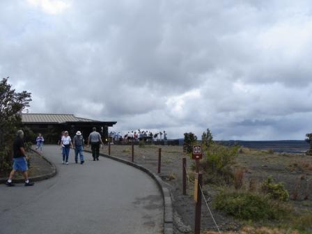 Crowds in Volcanoes National Park