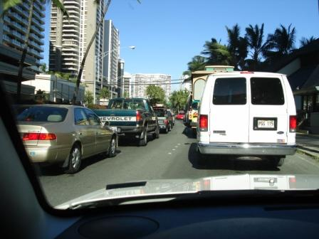 Traffic in Honolulu Hawaii