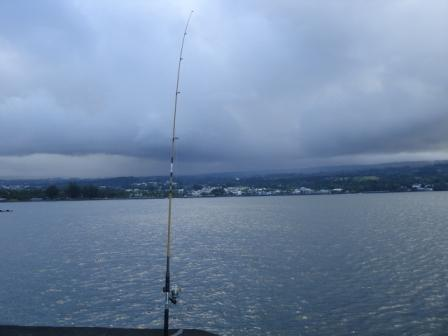 Fishing at Hilo Park