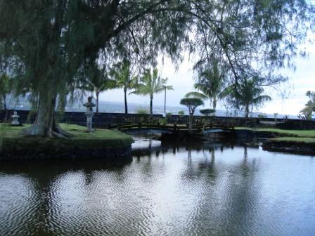 Liliuokalani Park ponds and bridges Hilo, Hawaii