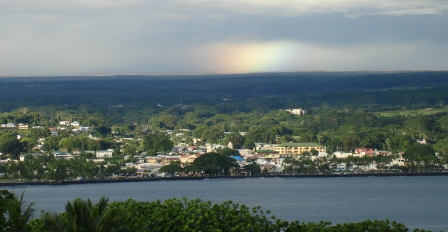 Rainbow over Hilo town